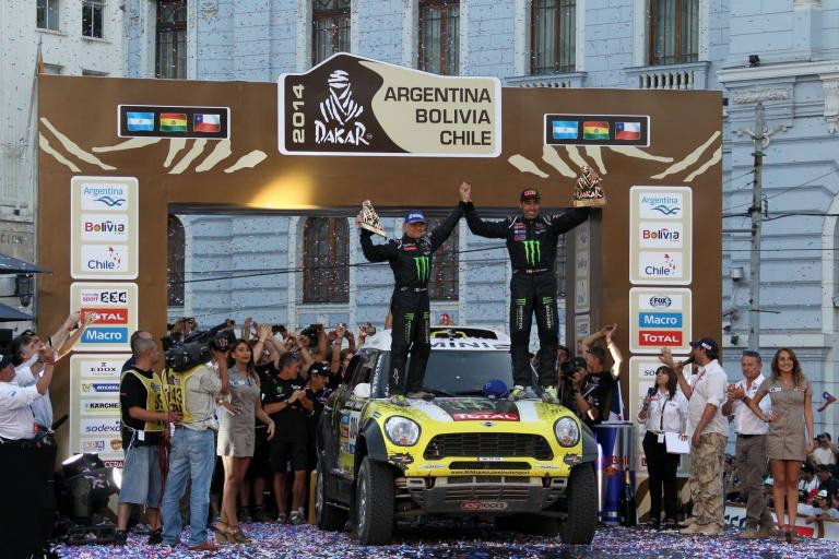 Podio Exclusivo de MINI, rally Dakar.
